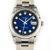 Rolex Oyster Perpetual Date Acero 34mm Azul Sin cifras