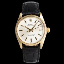 Rolex Oyster Perpetual 34 Yellow gold 34mm Silver
