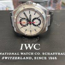 IWC Big Ingenieur Chronograph usados Blanco Cronógrafo Fecha Piel de aligátor