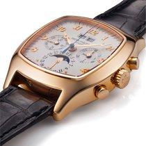 Patek Philippe Perpetual Calendar Chronograph Rose gold 37mm Silver