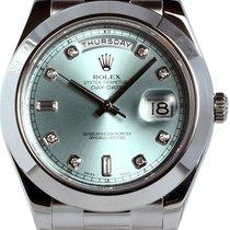 Rolex Day-Date II Platino 41mm Azul
