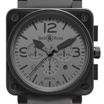 Bell & Ross BR 01-94 Chronographe Сталь 46mm Cерый
