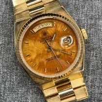 Rolex Day-Date Oysterquartz Oro amarillo 36mm Marrón Sin cifras