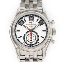 Patek Philippe Annual Calendar Chronograph Steel 40.5mm Silver No numerals United States of America, Florida, Hollywood