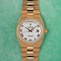 Rolex Day-Date Oysterquartz Aur galben 36mm Argint Fara cifre