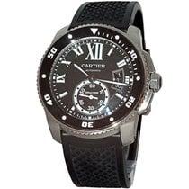 Cartier Calibre de Cartier Diver pre-owned 42mm Black Date Rubber