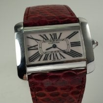 Cartier Tank Divan pre-owned 39mm White Leather
