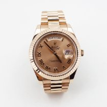 Rolex Day-Date II Rose gold 41mm Pink Roman numerals United States of America, New York, NEW YORK