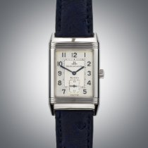 Jaeger-LeCoultre Reverso Grande Taille pre-owned 26mm Silver Ostrich skin