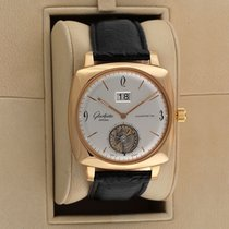 Glashütte Original Rose gold Automatic Silver 41.3mm pre-owned Sixties