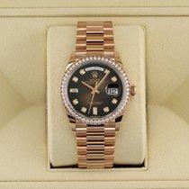 롤렉스 데이데이트 36 128345RBR Brown Graduated 미착용 핑크골드 36mm 자동