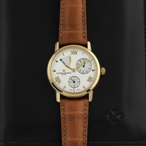 Vacheron Constantin Yellow gold Automatic Silver 36mm pre-owned Patrimony