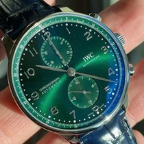 IWC Portuguese Chronograph Acciaio 41mm Verde Arabi Italia, Rassina