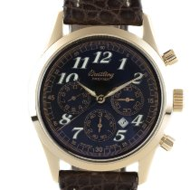 Breitling Yellow gold Automatic Black 36.5mm pre-owned Navitimer