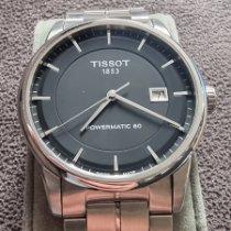 Tissot Luxury Automatic Steel Black No numerals