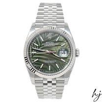 Rolex Datejust Steel 36mm Green No numerals United States of America, California, Fullerton