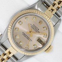 Rolex Lady-Datejust Gold/Steel 26mm Champagne No numerals