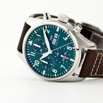 IWC Pilot Chronograph Steel 41mm Green United States of America, New Jersey, Oradell