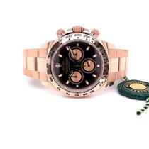 Rolex Rose gold Automatic Black No numerals 40mm new Daytona