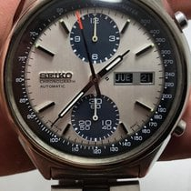 Seiko 5 Sports pre-owned 40mm Silver Chronograph Date Weekday Steel