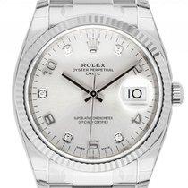Rolex Oyster Perpetual Date Золото/Cталь 34mm Cеребро Aрабские