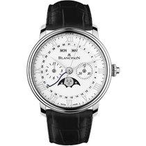 Blancpain Steel Automatic White Roman numerals 40.3mm new Villeret Complete Calendar