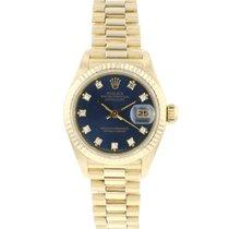 Rolex Lady-Datejust Geelgoud 26mm Blauw Nederland, Maastricht
