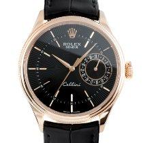 Rolex Cellini Date Oro rosso 39mm Nero