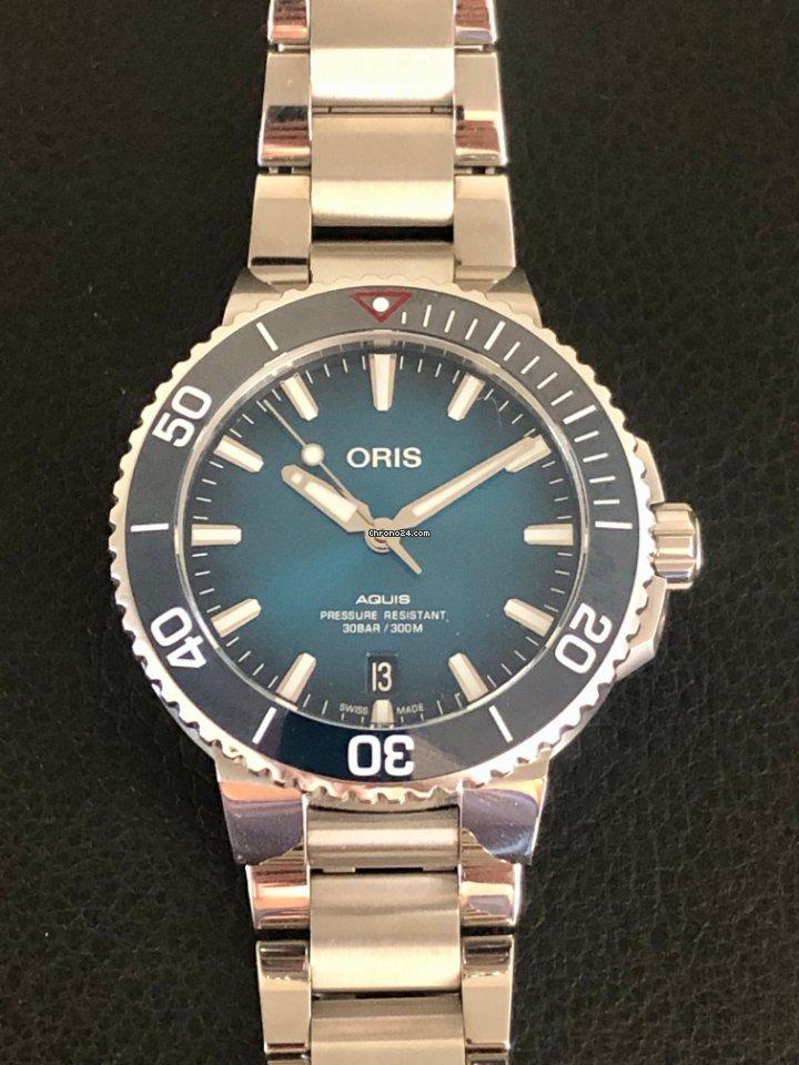 Oris Aquis Date 01 733 7732 4185 2019 pre-owned