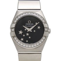 Omega Constellation Quartz Steel 24mm Black
