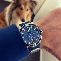 Ulysse Nardin Maxi Marine Diver подержанные 45mm Синий Дата Каучук