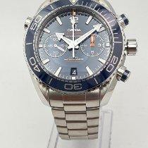 Omega Seamaster Planet Ocean Chronograph Çelik 45.5mm Mavi Arap rakamları