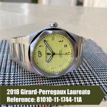 Girard Perregaux Laureato pre-owned 42mm Yellow Date Steel