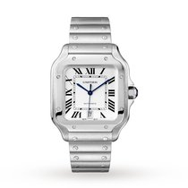 Cartier Santos (submodel) Steel 39.8mm Silver Roman numerals United States of America, California, Los Angeles