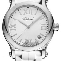 Chopard Happy Sport Staal 36mm Wit
