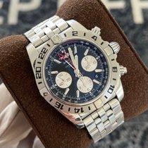 Breitling Chronomat 44 GMT Сталь 44mm Черный Без цифр