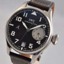 IWC White gold Automatic Brown 46mm pre-owned Big Pilot
