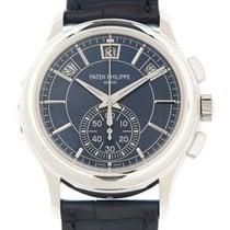 Patek Philippe Platinum Automatic Blue No numerals 42mm new Annual Calendar Chronograph