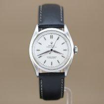 Rolex Bubble Back Acier 34mm Blanc Sans chiffres