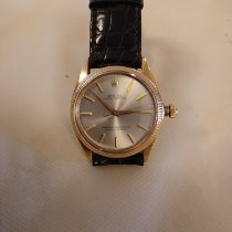 Rolex Rose gold Automatic Champagne No numerals 34mm pre-owned
