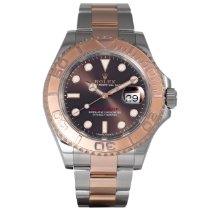 Rolex Rose gold Automatic Brown 40mm pre-owned Yacht-Master 40