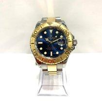 Rolex Yacht-Master 40 Goud/Staal 40mm Blauw Geen cijfers