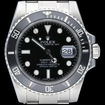 Rolex Submariner Date Acier 40mm Noir Sans chiffres Belgique, Brussel