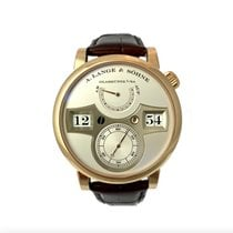 A. Lange & Söhne Red gold Manual winding Silver Arabic numerals 41,9mm pre-owned Zeitwerk