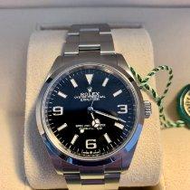 Rolex Explorer Stahl 36mm Schwarz Arabisch Schweiz, Basel