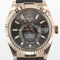 Rolex Sky-Dweller Rose gold 42mm Grey No numerals