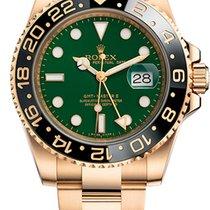 Rolex GMT-Master II Žluté zlato 40mm Zelená Bez čísel