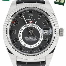 Rolex White gold Automatic Black Arabic numerals 40mm pre-owned Sky-Dweller