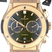 Hublot Rose gold Automatic Green 40mm pre-owned Classic Fusion