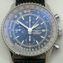 Breitling Navitimer World подержанные 46mm Черный Хронограф Дата GMT/две час.зоны Каучук